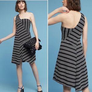 Anthropologie Maeve Moka One Shoulder Dress Sz XL